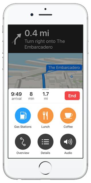 Apple Maps ก็ปรับปรุง ให้นำทางและเลือกการค้นหาได้ดีขึ้น